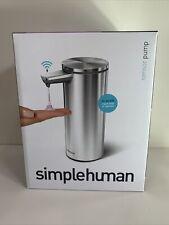 NEW SimpleHuman Touch-Free Rechargeable Sensor Liquid Soap Pump Dispenser 9oz