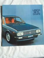 Lancia Beta Coupe range brochure c1980's ref 88795531