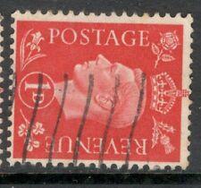 George VI - SG 463a  - 1d Scarlet - Used - Watermark Sideways