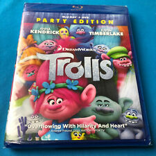 DreamWorks Trolls Party Edition (Blu-ray + DVD) ✔New Sealed ✔Ships Same Day Free