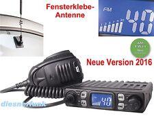 TEAM CB MOBILE MiniCOM V2 & Fensterklebeantenne FUNK 4W AM/FM LKW ACTROS TGA MAN