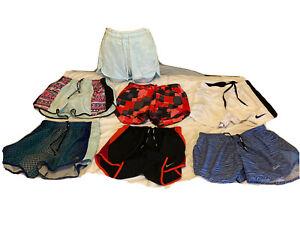 Lot Of 7 Nike Dri Fit,Victoria Secret PINK Running, Athletic Shorts Size JR XS