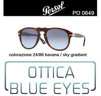 Occhiali da Sole Persol PE 0649 649 24/86 Havana Blue gradient McQueen Original