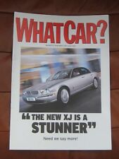 "JAGUAR XJ8 , 2003  WHAT CAR   "" THE NEW XJ IS A STUNNER """