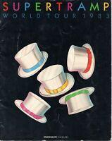 SUPERTRAMP 1983 FAMOUS LAST WORDS TOUR CONCERT PROGRAM BOOK-HODGSON-GOOD 2 NMT