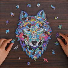 Wooden Jigsaw Puzzles Unique Animal Jigsaw Pieces Best Gift for Adults and Kid