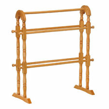 WOODEN TOWEL CLOTHES STAND RAIL RACK DRYER HOLDER NATURAL NEW PREMIUM