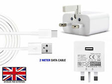 "GOOGLE PIXEL (5.0"") - Fast UK Wall Charger / USB Type C 3.1 Data Transfer Cable"