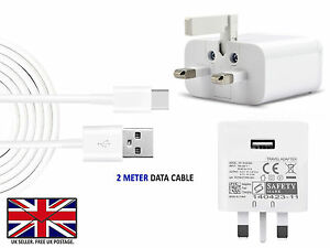For ONEPLUS 5 6 T 7 8 Pro UK Wall Charger / USB Type C 3.1 Data charging Cable