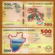 Burundi, 500 Francs, 2015, P-New, UNC > New Design > Crocodile