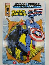 Marvel Legends RETRO Black Panther & Captain America Action Figures Hasbro Pulse