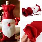 Red Santa Wine Bottle Set Cover Bag Christmas Dinner Party Xmas Table Decor H