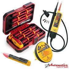 Électriciens Tester VDE outil kit Fluke T90 1AC SM100-Isolé Jeu de tournevis