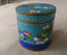 BEAUTIFUL LITTLE CHINESE TEA CADY ENAMEL CLOISONNE BOX