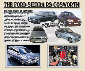 FORD SIERRA RS COSWORTH CLASSIC CAR COMPUTOR MOUSE MAT LIMITED EDITION