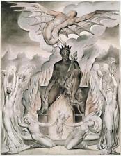 William Blake en la mañana del Cristo'S Natividad Milton demonios 7x5 pulgadas impresión