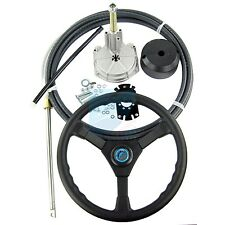 12FT Marine Outboard Turbine Rotating Mechanical Steering System Cable & Wheel