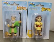 New Bible Toys DAVID &  MOSES Real Stories The Bible Figure David Goliath King X