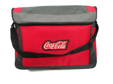 Coca-Cola Shoulder Tote Cooler Bag Gray & Red w/ Rubber Patch - BRAND NEW