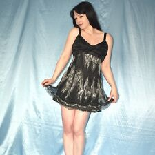 silber Pailletten am MINIKLEID* M  Partykleid* Träger Cocktailkleid* Abendkleid