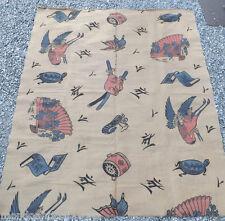 Arazzo tessuto, tappeto tela Giapponese orientale epoca '800