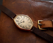 H. Moser & Cie Wristwatch - 14K Rose Gold 14gr - circa 1920's - Art Deco Vintage