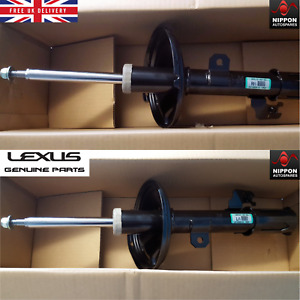 NEW GENUINE LEXUS RX400H FRONT SHOCK ABSORBERS PAIR L/F R/F 2005-2008