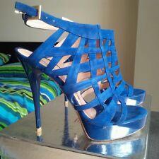 GIANMARCO LORENZI Electric Blue Sandals EU 37, UK 4 RRP £710.00