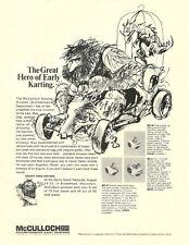 Vintage 1965 McCulloch Mc-9, 45 & 75 Go-Kart Engine Ad