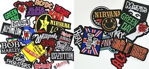 Music Band Embroidered Iron on or Sew On Patch (pk6) Rock Punk Pop Heavy Metal