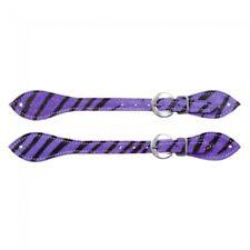 Tough-1 Hair-on Spur Straps - Purple  Zebra - 78-0100 - NEW -