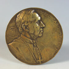 Bronze Medal of Cardinal De Mercier by Josue Dupon