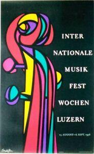 Original vintage poster INT.MUSIC FESTIVAL LUCERNE 1956