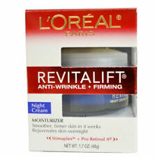 L'Oreal Revitalift 1.7 oz Anti Wrinkle+ Firming Night Cream Moisturizer 48 g
