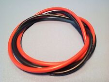 4' Feet 12 AWG Flexible Silicone Wire 12 Gauge ga. Tin - Copper 2'-Red 2'-Blk RC