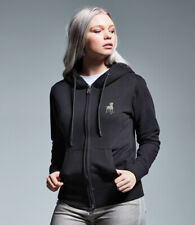 More details for rottweiler rotty clothing gifts embroidered ladies organic full zip hoodie
