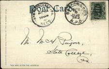 White Mountains Nh Bangor & Bos Rpo Postal Cancel Sent to State College Pa