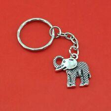 SILVER CUTE ELEPHANT KEY RING KEYCHAIN CHARM