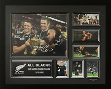 ALL BLACKS RICHIE MCCAW DAN CARTER MA'A NONU SIGNED LIMITED FRAMED MEMORABILIA