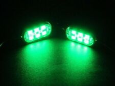 GREEN 5050 SMD LED PODS  PAIR 6 LEDS EACH POD FITS CARS SUVS TRUCKS MOTORCYCLES