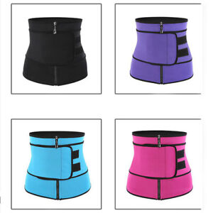 Large Belt Neoprene Zippered Waist Trainer with Thermo Technology - Pink