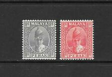 1938 King George VI SG110 & SG111  Mint Hinged  PERAK