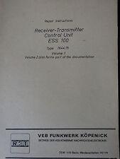 ESS100 englische Reparaturanleitung Bd.1, Repair Instructions /  RFT/FWB