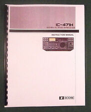 Icom Ic-471H Instruction Manual - Premium Card Stock Covers & 28lb Paper!