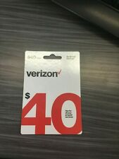 Brand-New $40 Verizon Wireless Prepaid Refill Card (Fast Email Delivery)