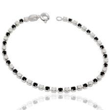 Bracciale tennis mm 2,5 in argento 925 con strass white and black cm 18