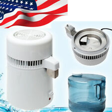 USA 4L Laboratory Travel Pure Water Distiller Water Filter Distilled Health 750W