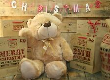Extra Large 80cm Super Cuddly Plush Giant Sitting Teddy Bear Soft Toy Cookie