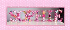 6 lettere nome non associate vivaio in legno Decorazione Battesimo Baby Regalo