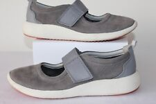 CLARKS LADIES CASUAL GREY LEATHER SHOES ELASTICATED  STRAP SIZE UK 5.5 D